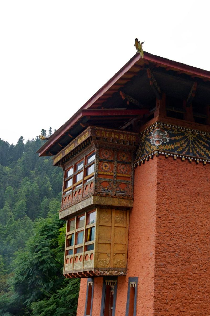 View of the ornate east balcony