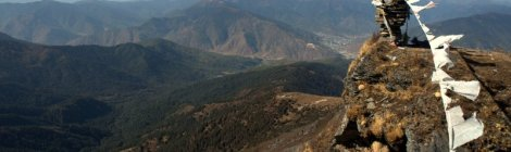 View from Talakha Peak, high above Thimphu