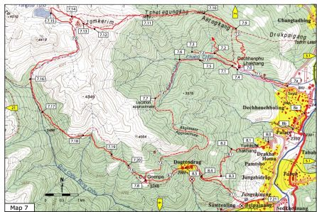 Dechhenphu Map